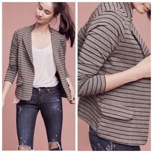 Anthropologie Dolan Striped Jersey Knit Jacket | S